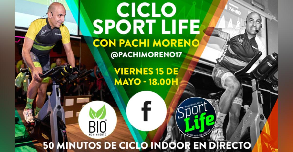sesión de ciclo-indoor Sport Life con Pachi Moreno